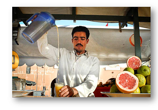 Djamma el Fna Orange Juice Seller