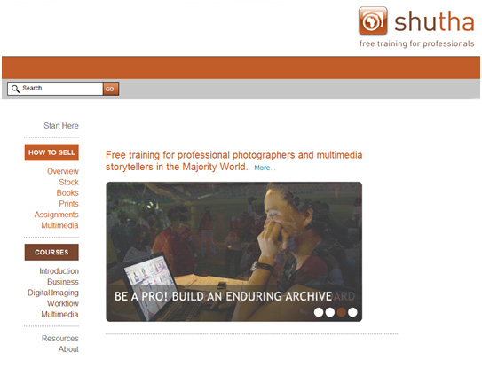 Shutha web resource for photographers