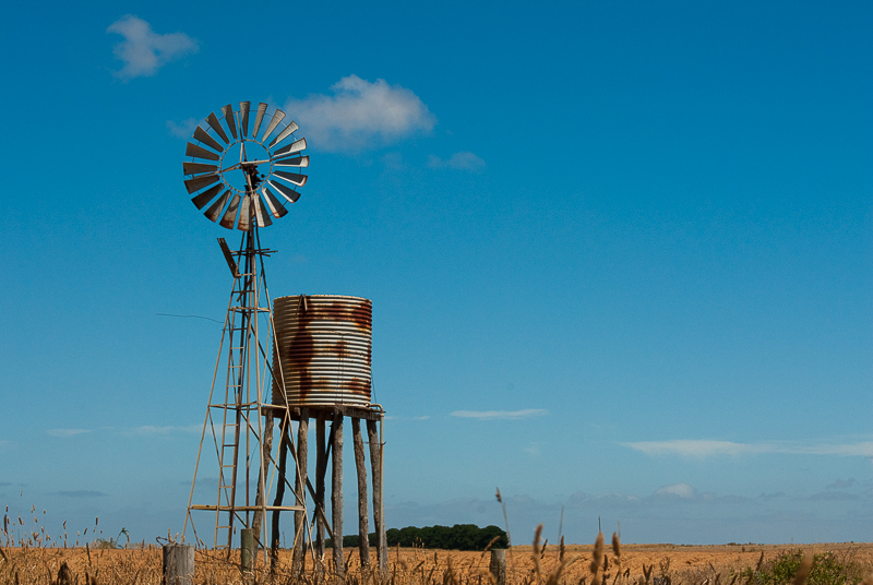 Windmill in Australian outback