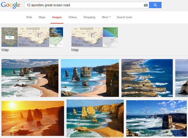 12 apostles google search result