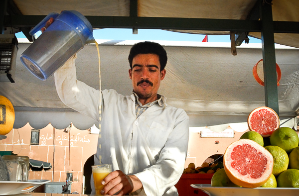 Orange juice seller, Marrakech