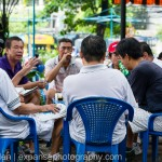 Vietnamese men in cafe
